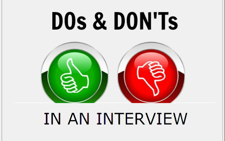 Dos Dont in Interview